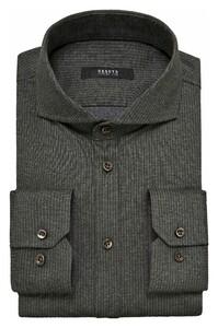 Desoto Luxury Subtle Stripe Overhemd Grey-Olive