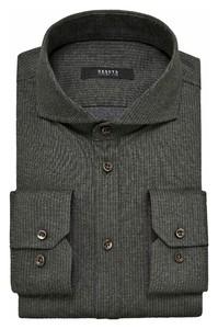 Desoto Luxury Subtle Stripe Shirt Grey-Olive