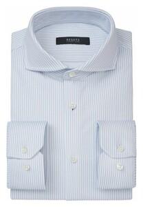 Desoto Luxury Subtle Stripe Shirt White-Lightblue