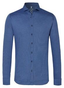 Desoto New Shark Fine Pique Solid Overhemd Bright Blue