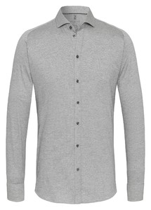 Desoto New Shark Fine Pique Solid Overhemd Licht Grijs