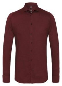 Desoto New Shark Fine Pique Solid Overhemd Oxblood