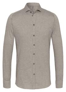 Desoto New Shark Fine Pique Solid Shirt Cream