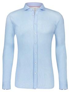 Desoto Oxford Uni Overhemd Licht Blauw