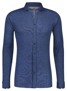 Desoto Oxford Uni Overhemd Marine