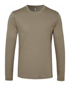 Desoto Roundneck Uni T-Shirt Bruingroen