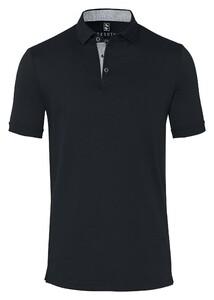 Desoto Shark Solid Uni Polo Zwart