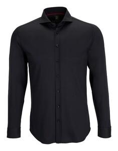 Desoto Uni Cotton Overhemd Zwart