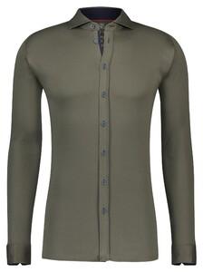 Desoto Uni Shark Collar Overhemd Groen