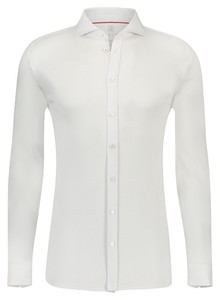Desoto Uni Shark Collar Shirt White