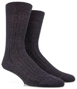 Doré Doré Rib Sock Mixed Wool Socks Anthracite Grey