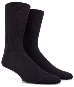 Doré Doré Rib Sock Mixed Wool Sokken Zwart