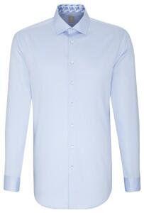 Jacques Britt Slim Collar Contrast Blauw