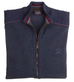 Paul & Shark Cool Touch Shoulder Contrast Rafblauw