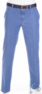 MENS Flat-Front Jeans Midden Blauw