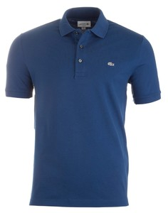 Lacoste Stretch Slim-Fit Mini Piqué Marino