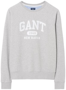 Gant The Summer Logo Sweat Licht Grijs