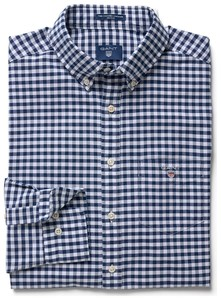 Gant The Oxford Gingham Donker Blauw
