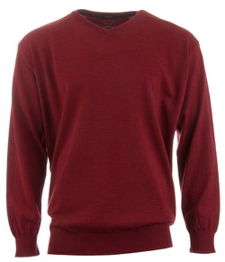 Paul & Shark Three in One Wool V-Neck Donker Rood