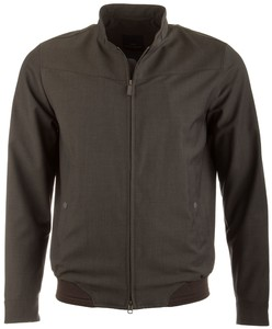 EDUARD DRESSLER Anthony Wool Water Repellent Jacket Jack Donker Groen