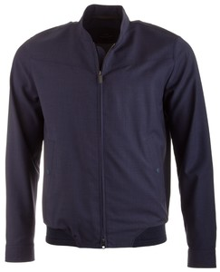 EDUARD DRESSLER Anthony Wool Water Repellent Jacket Jack Rafblauw