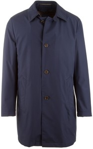 EDUARD DRESSLER Fabio-G Tech Long Coat  Jas Blauw