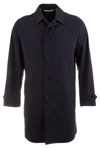 EDUARD DRESSLER Half Lined Long Coat Coat Navy