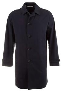 EDUARD DRESSLER Half Lined Long Coat Jas Navy