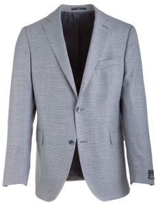 EDUARD DRESSLER James Shaped Fit Fine Structure Jacket Blue