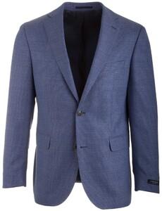 EDUARD DRESSLER James Shaped Fit Fine Structure Jacket Mid Blue