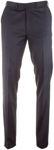 EDUARD DRESSLER Jeff Fine Check Broek Navy
