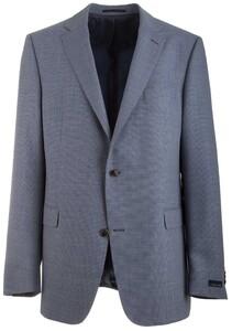 EDUARD DRESSLER Merano Shaped Fit Fine Structure Jacket Mid Blue