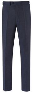 EDUARD DRESSLER Modern Fit Faux Uni Pantalon Midnight Blue