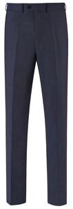EDUARD DRESSLER Modern Fit Faux Uni Trouser Midnight Blue