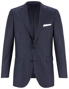 EDUARD DRESSLER Modern Fit S140 Mid Tone Colbert Midden Blauw