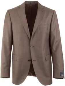 EDUARD DRESSLER Modern Fit S140 Mid Tone Jacket Brown
