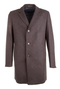 EDUARD DRESSLER Ruben Herringbone Melange Coat Coat Brown Melange