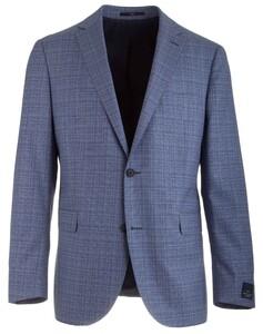 EDUARD DRESSLER Sean Shaped Fit Structure Jacket Mid Blue