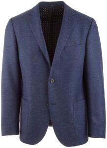 EDUARD DRESSLER Sendrik Shaped Fit Faux-Uni Colbert Midden Blauw