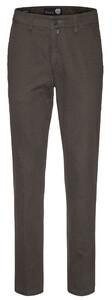 Gardeur Benny-8 Structured Flat-Front Dark Brown Melange