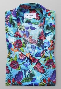 Eton Floral Resort Pastel Blauw