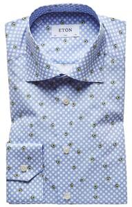 Eton Avacado Fantasy Overhemd Pastel Blauw