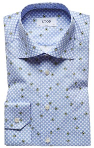 Eton Avacado Fantasy Shirt Pastel Blue