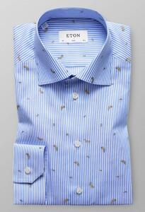 Eton Banana Stripe Shirt Overhemd Blauw
