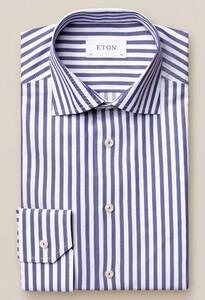 Eton Bengal Stripe Signature Twill Overhemd Navy