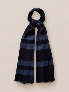 Eton Block Shades Cashmere Silk Sjaal Blauw