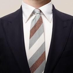 Eton Bold Blended Stripe Das Grijs
