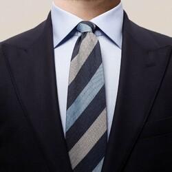 Eton Bold Blended Stripe Tie Dark Navy