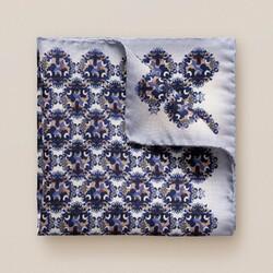 Eton Bold Medallion Pochet Blauw-Paars