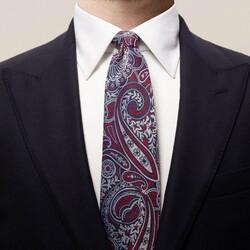 Eton Bold Paisley Tie Dark Navy